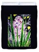 Yucca Flower Plant Southwestern Art Duvet Cover