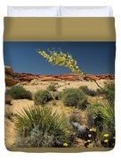 Yucca In The Valley Of Fire Duvet Cover