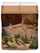 Yucca Plants Valley Of Fire Duvet Cover