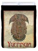 Yuepingia Fossil Trilobite Duvet Cover