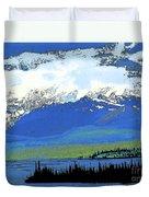 Yukon Mountain Range 3 Duvet Cover