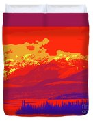 Yukon Mountain Range 4 Duvet Cover