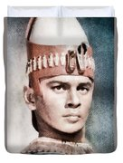 Yul Brynner, Hollywood Legend By John Springfield Duvet Cover