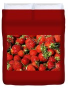 Yummy Fresh Strawberries Duvet Cover