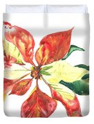 Yupo Poinsettia Duvet Cover