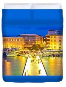 Zadar Colorful Blue Evening View Duvet Cover