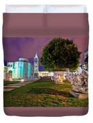 Zadar Historic Square Evening View Duvet Cover