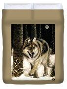 Zane Gray Wolf Duvet Cover