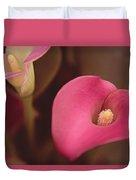 Zantedeschia Pink Puppy  Duvet Cover