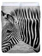Zebra - Here It Is In Black And White Duvet Cover