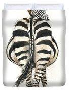 Zebra Back Duvet Cover