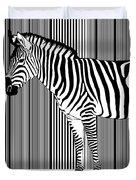 Zebra Barcode Duvet Cover