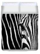 Eye Of The Zebra Duvet Cover