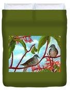 Zebra Doves Or Barred Dove Birds #309 Duvet Cover
