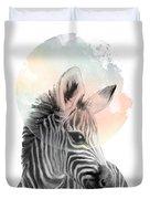 Zebra // Dreaming Duvet Cover