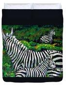 Zebra Family Duvet Cover