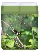Zebra Longwing Butterfly About To Take Flight Duvet Cover