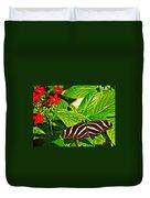 Zebra Longwing Butterfly In Living Desert Zoo And Gardens In Palm Desert-california  Duvet Cover