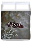 Zebra Longwing Butterfly Duvet Cover