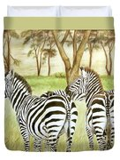 Zebra Pals Duvet Cover