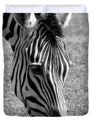 Zebra Portrait Duvet Cover