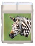 Zebra Portrait Duvet Cover by Trevor Wintle