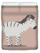 Zebra Posing Duvet Cover
