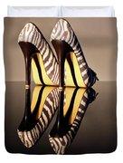 Zebra Print Stiletto Duvet Cover