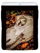 Zebra Skull Duvet Cover