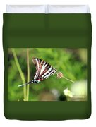 Zebra Swallowtail Butterfly In Garden 2016 Duvet Cover