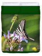 Zebra Swallowtail Butterfly On Phlox Duvet Cover