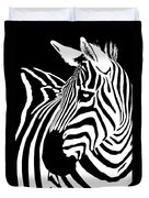 Zebra Works Duvet Cover