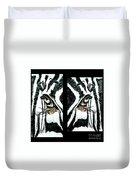 Zebras Eye - Studio Abstract  Duvet Cover