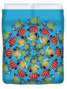Zeerkl Of Angelfish Duvet Cover