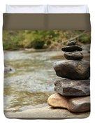 Zen At The Water Duvet Cover