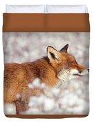 Zen Fox Series - Happy Fox IIn The Snow Duvet Cover
