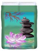 Zen Pool- Turquoise Duvet Cover