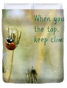Zen Proverb Duvet Cover