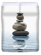 Zen Stones In Water Duvet Cover