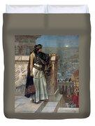 Zenobia's Last Look On Palmyra Duvet Cover by Herbert Gustave Schmalz