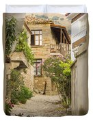 Zeytinli Village Cobblestone Lane Duvet Cover
