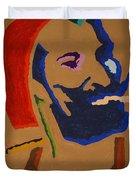 Brown Zig Zag Man Duvet Cover