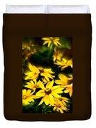 Zinnia Flower Duvet Cover