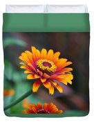 Zinnia Flowers Duvet Cover