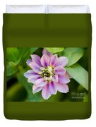 Zinnia In Pink Duvet Cover