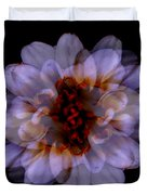 Zinnia On Black Duvet Cover