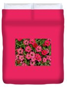 Zinnia Riot Watercolor Duvet Cover