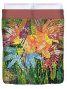 Zinnias Gone Mad Duvet Cover