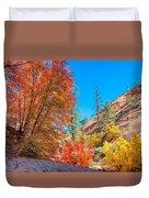 Zion Autumn Colors Duvet Cover