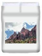 Zion Canyon Terrain Duvet Cover